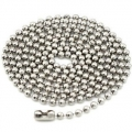 NICKEL PLATED STEEL BALL CHAIN LONG