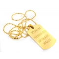 Gold 24 Plated ENGRAVING DOG TAG