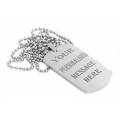 ENGRAVING DOG TAG Rhodium Plated