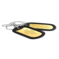 BRASS DOG TAGS EMBOSSED