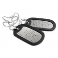 DULL  EMBOSSED DOG TAGS